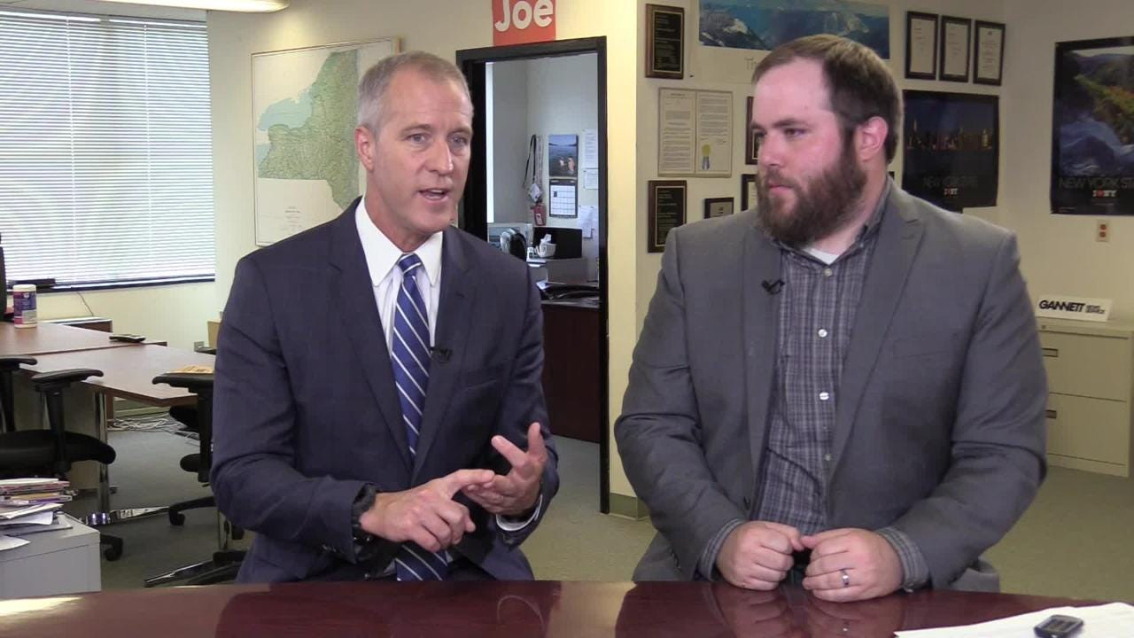 Rep. Sean Patrick Maloney, D-Cold Spring, Putnam County, discusses his run for New York attorney general on Friday, Aug. 17, 2018.