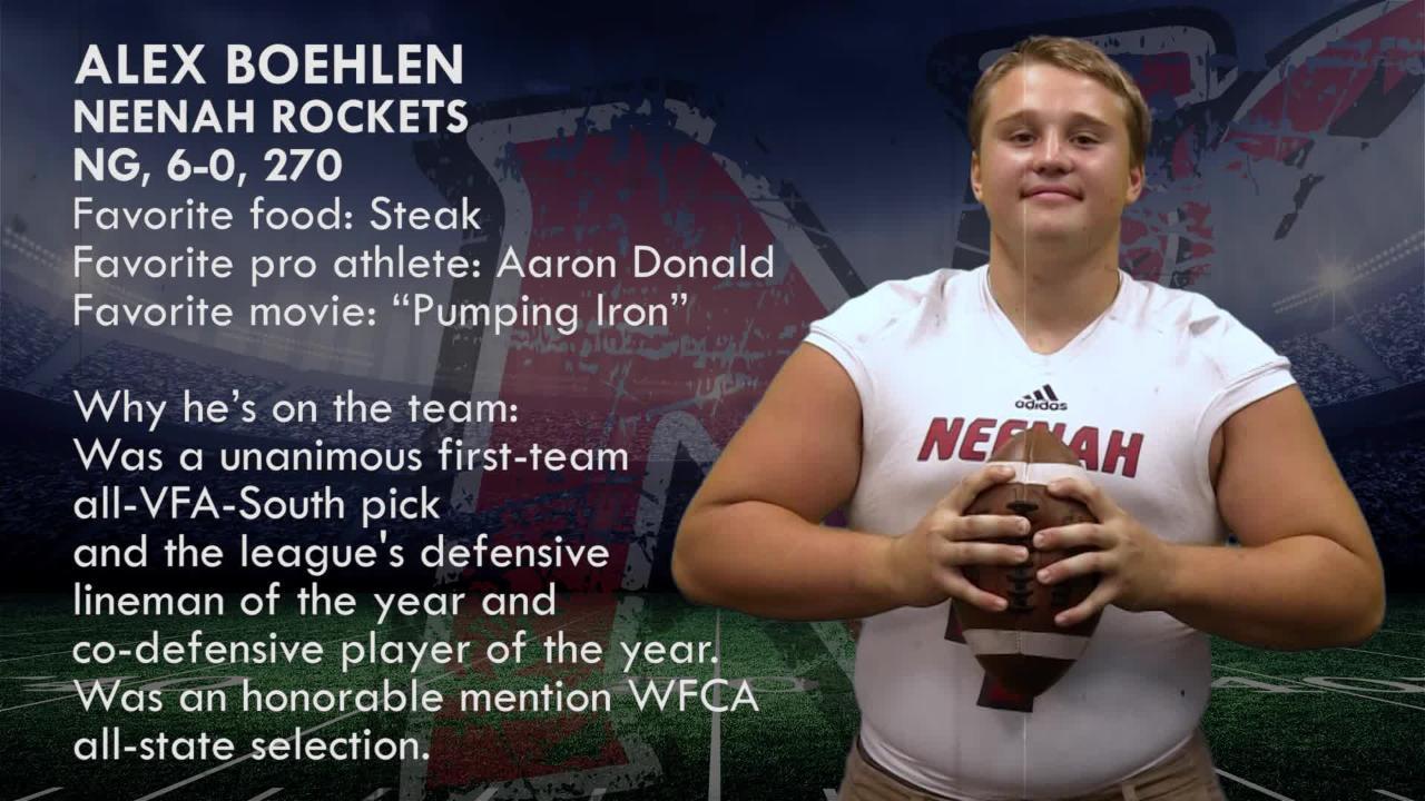 Meet Alex Boehlen, NG,  Neenah Rockets.