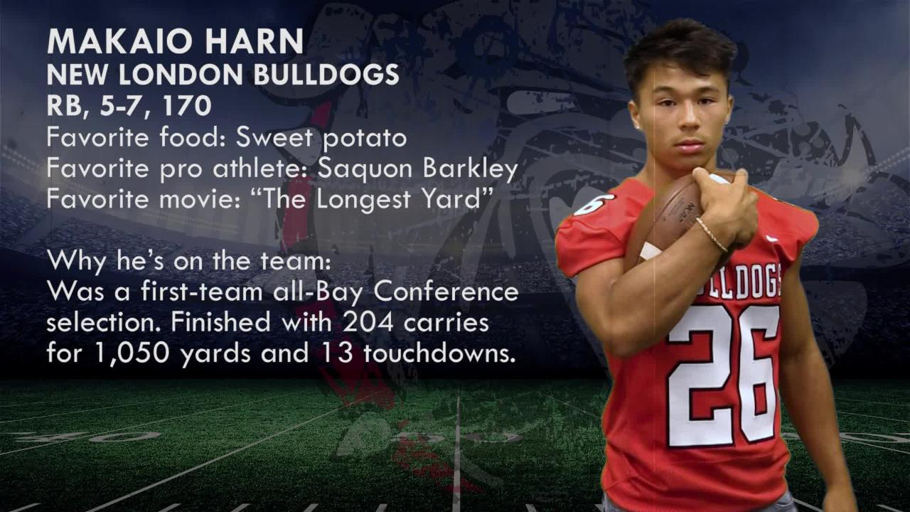 Meet Makaio Harn, RB, New London Bulldogs