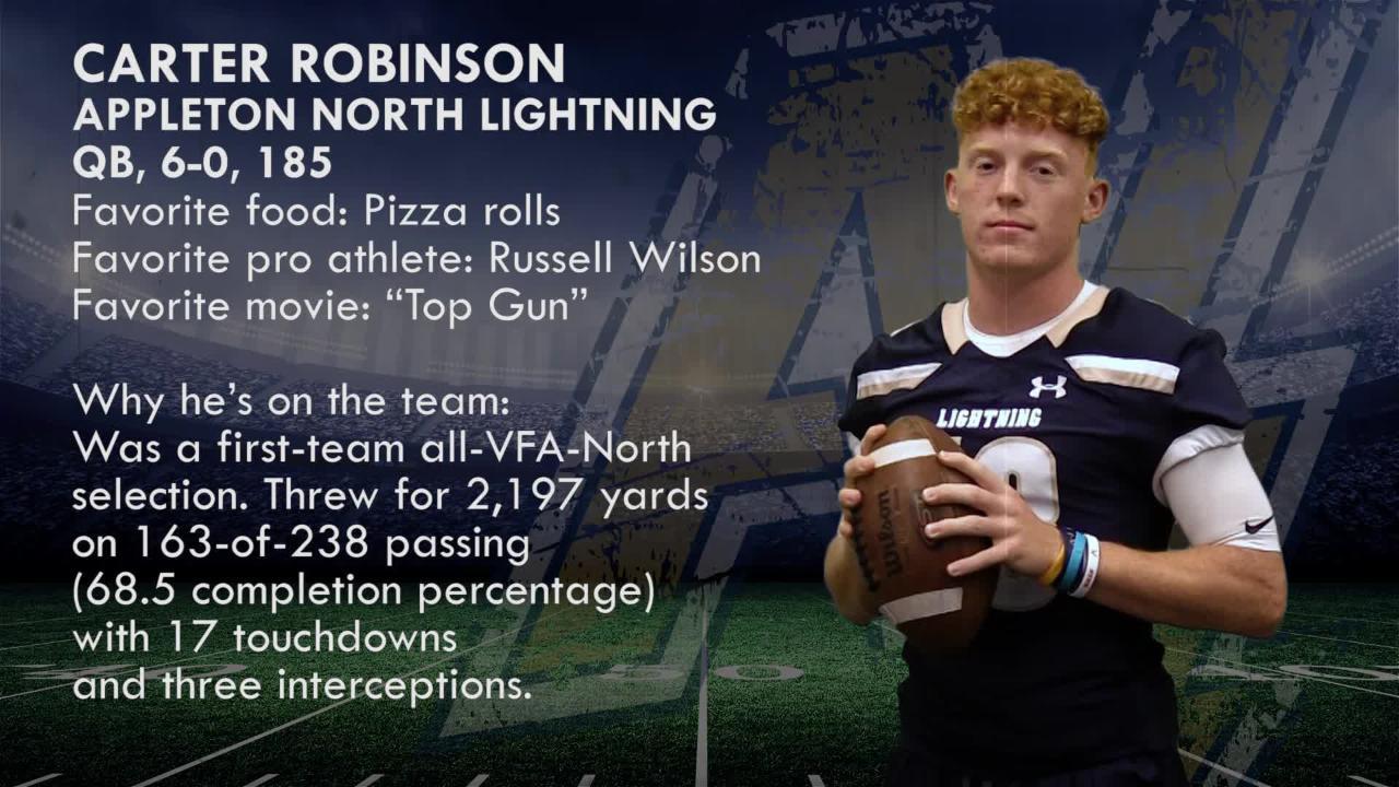 Meet Carter Robinson, QB, Appleton North Lightning