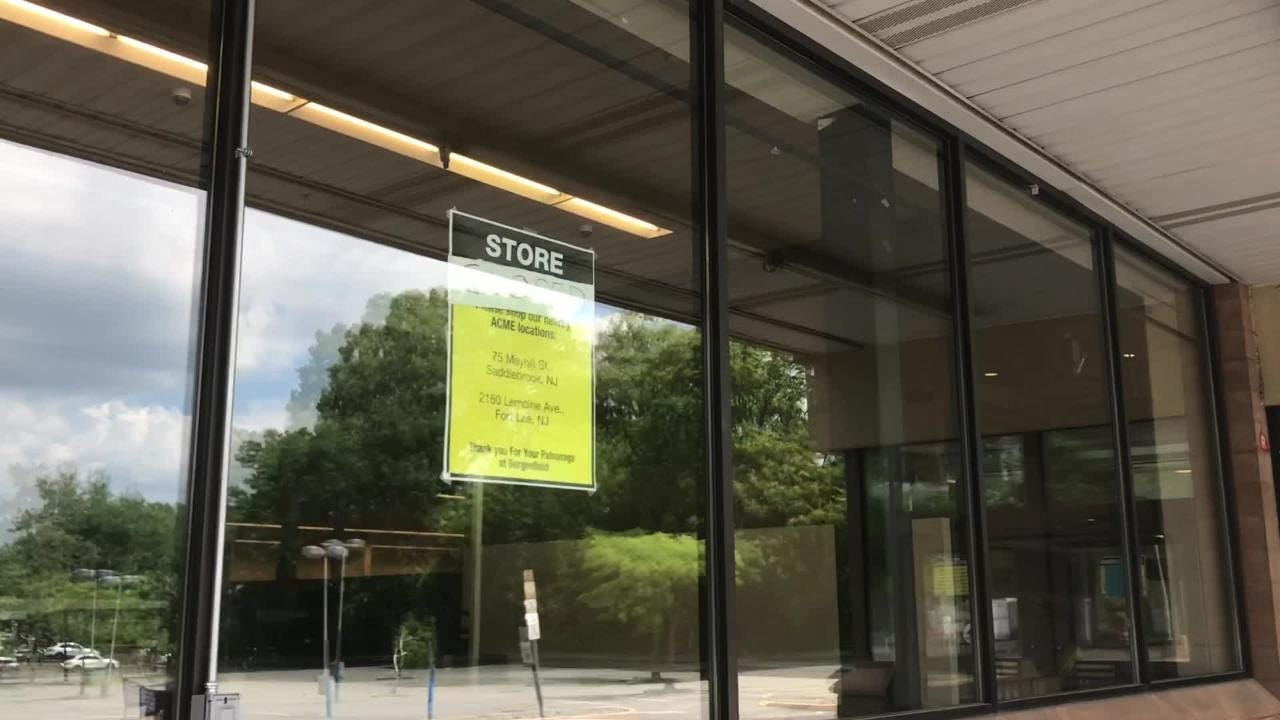 The building that once housed the Acme Markets in Bergenfield has been empty since it closed last year.