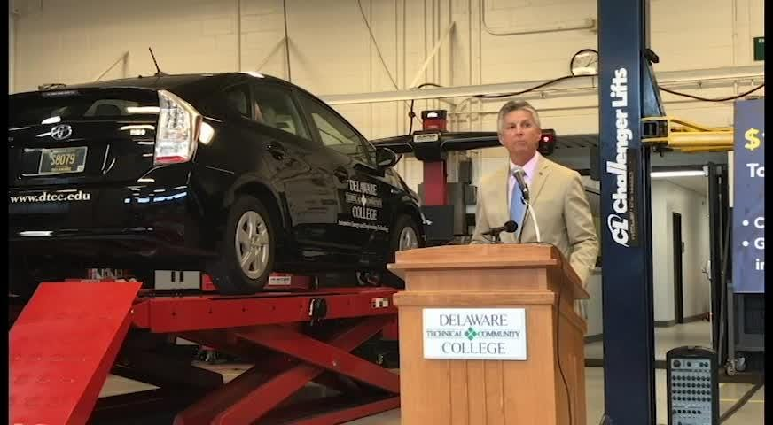 Delaware Technical Community College announces a $1.97 million grant to create the Automotive Center of Excellence at the Georgetown Campus