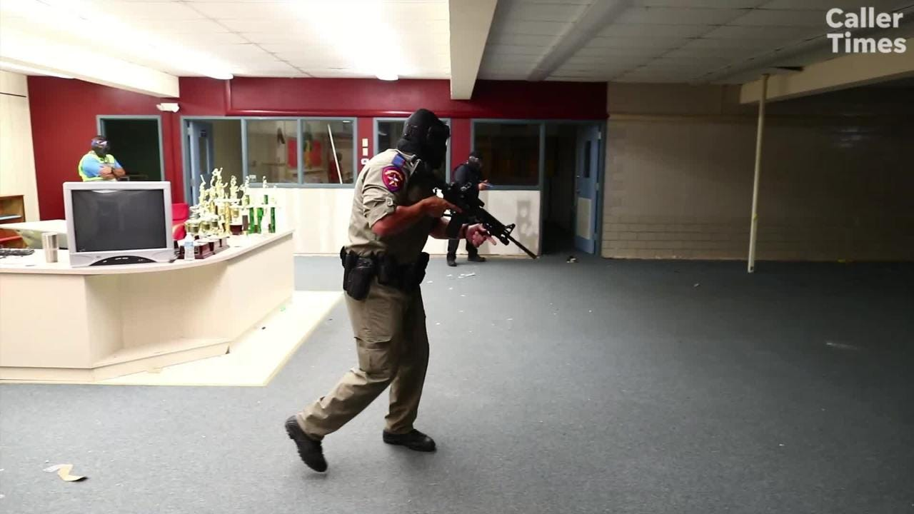 Watch how Corpus Christi Independent School District police officers train