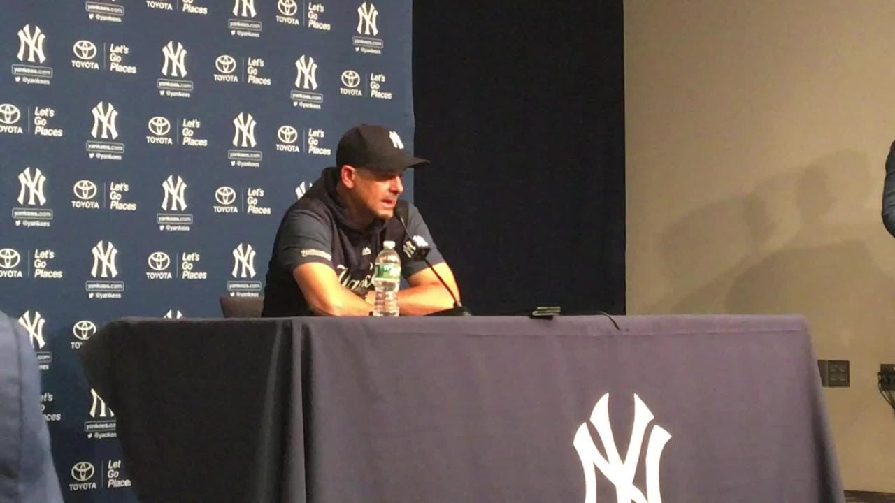 Yankees manager Aaron Boone talks about the state of his club before a home weekend series against Toronto