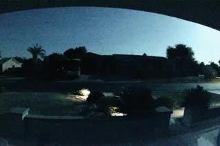 A flash of light caught from home security camera in Mesa on June 2, 2016, was confirmed by NASA to be an asteroid.
