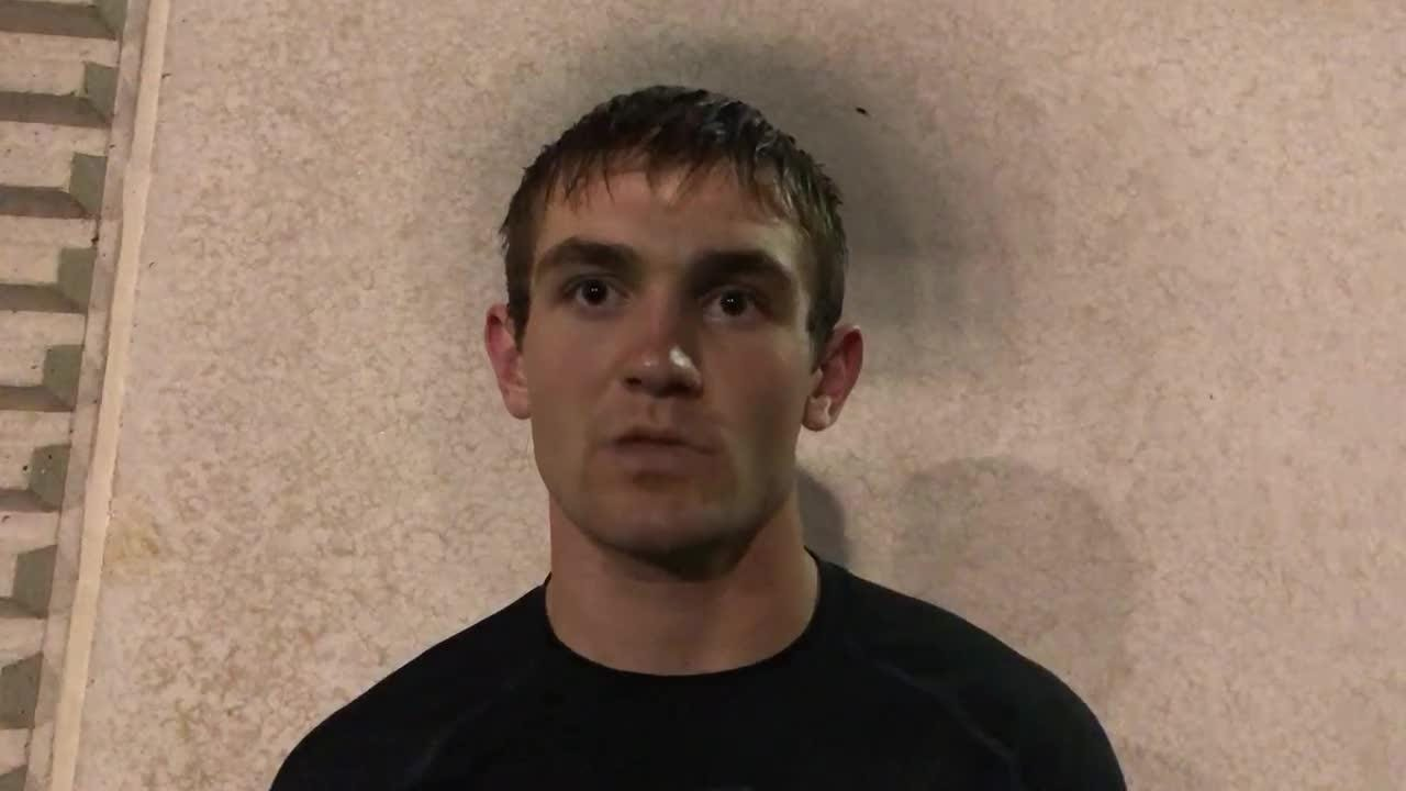 East Central QB Alex Maxwell talks about his 3-touchdown night in the Trojans' dominating win over Lawrenceburg.