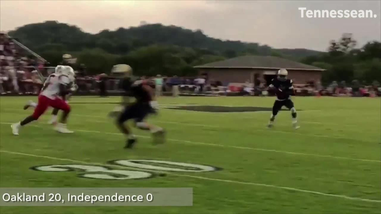 Tennessee high school football game between Oakland and Independence.