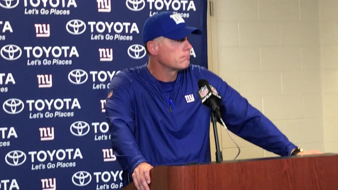 Giants coach Pat Shurmur praises Kerry Wynn after another big performance in Friday's preseason victory over the Lions