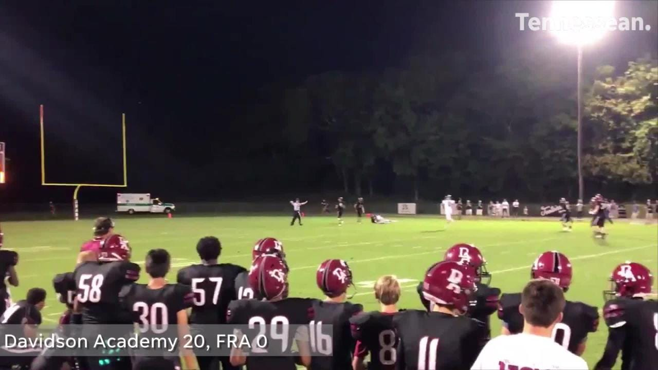 Davidson Academy earns a win against FRA in Tennessee high school football action.