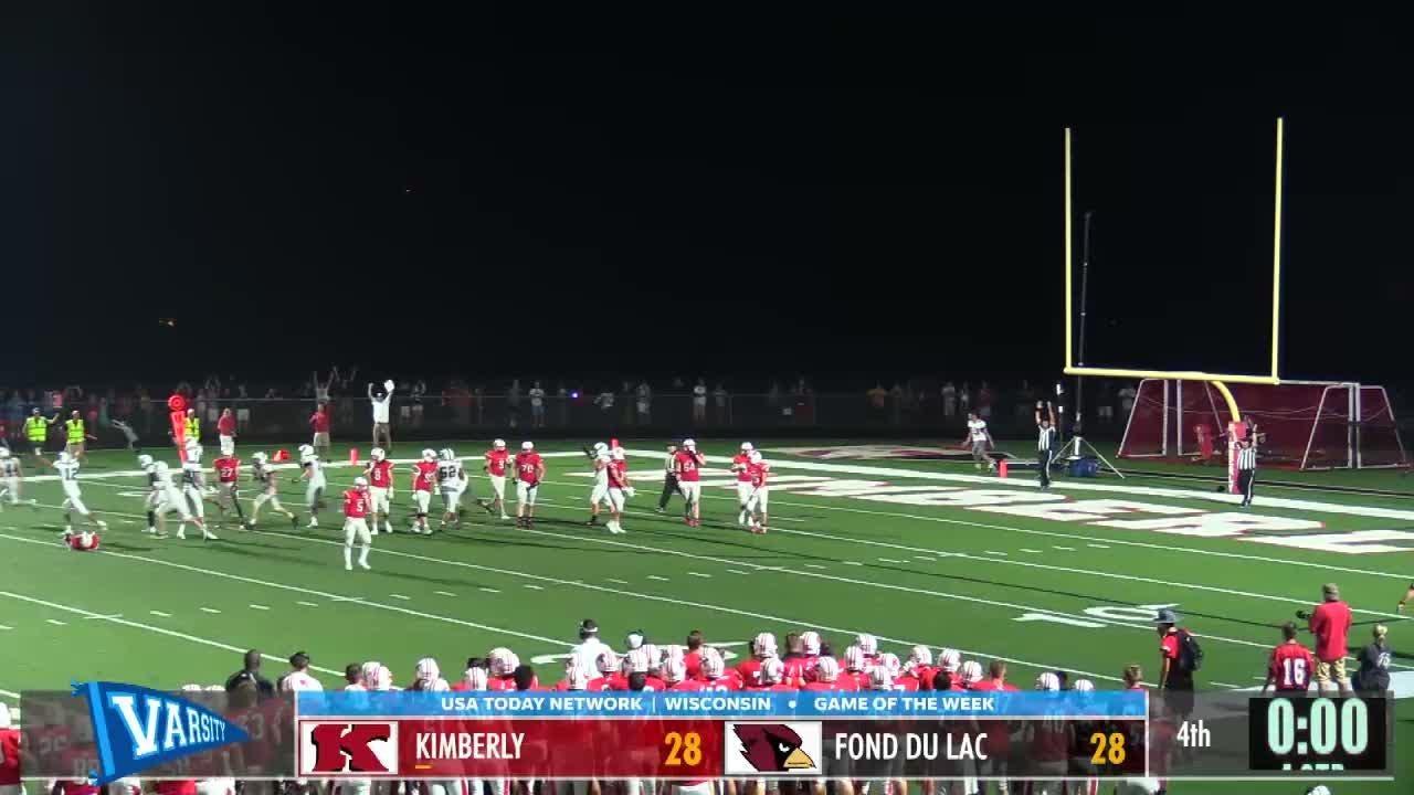 Fond du Lac game winning kick ends Kimberly streak