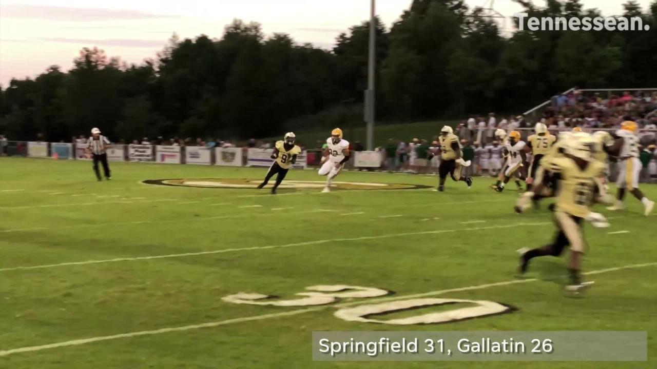 Springfield outlasts Gallatin in tonight's season opener.