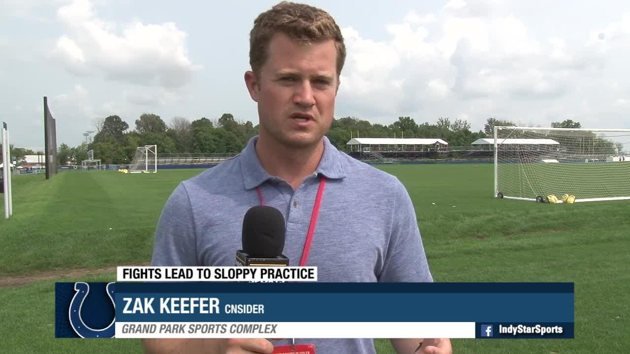 Insider Zak Keefer discusses the Colts fight-filled practice with the Ravens.