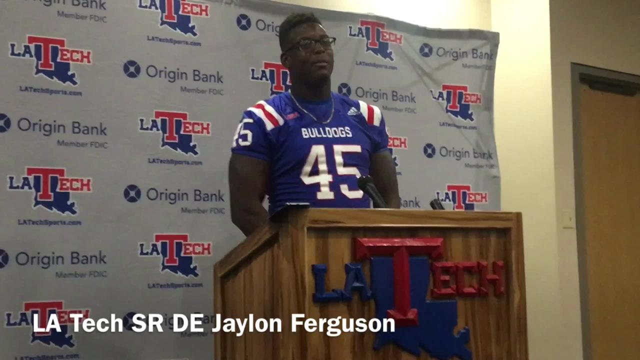 Louisiana Tech senior defensive end Jaylon Ferguson says the D-line bested the O-line during the team's second fall scrimmage Saturday.