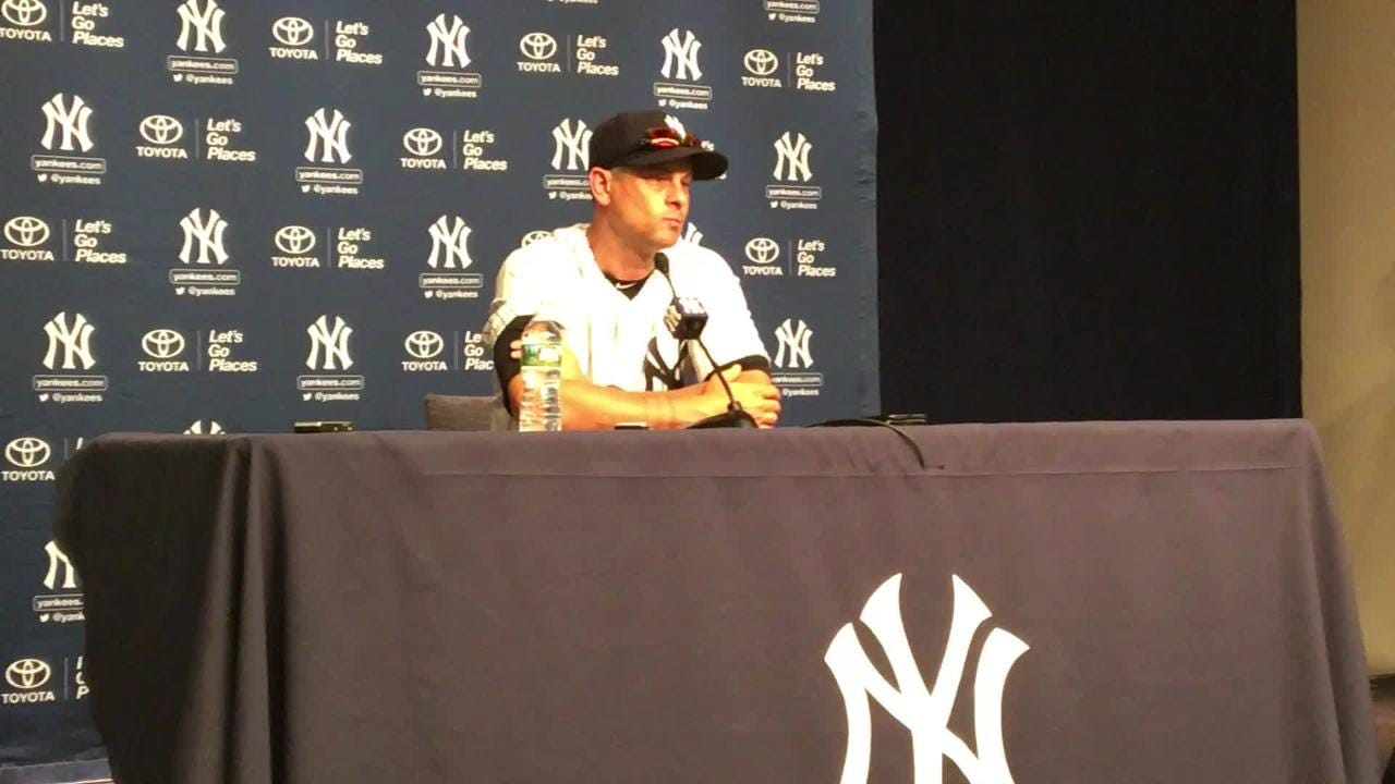 Yankees manager Aaron Boone talks about Austin Romine's condition