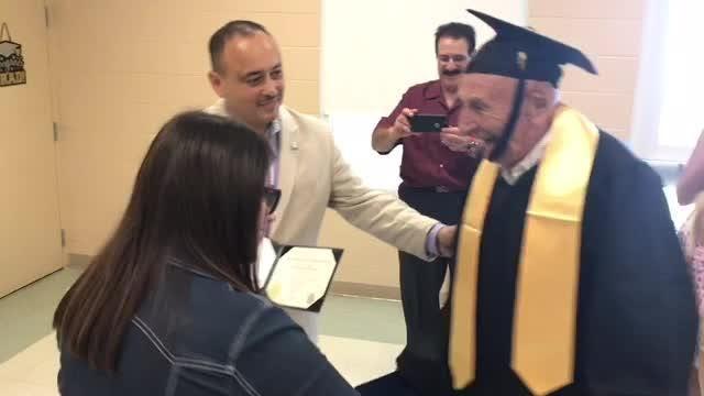 Man gets diploma at 91