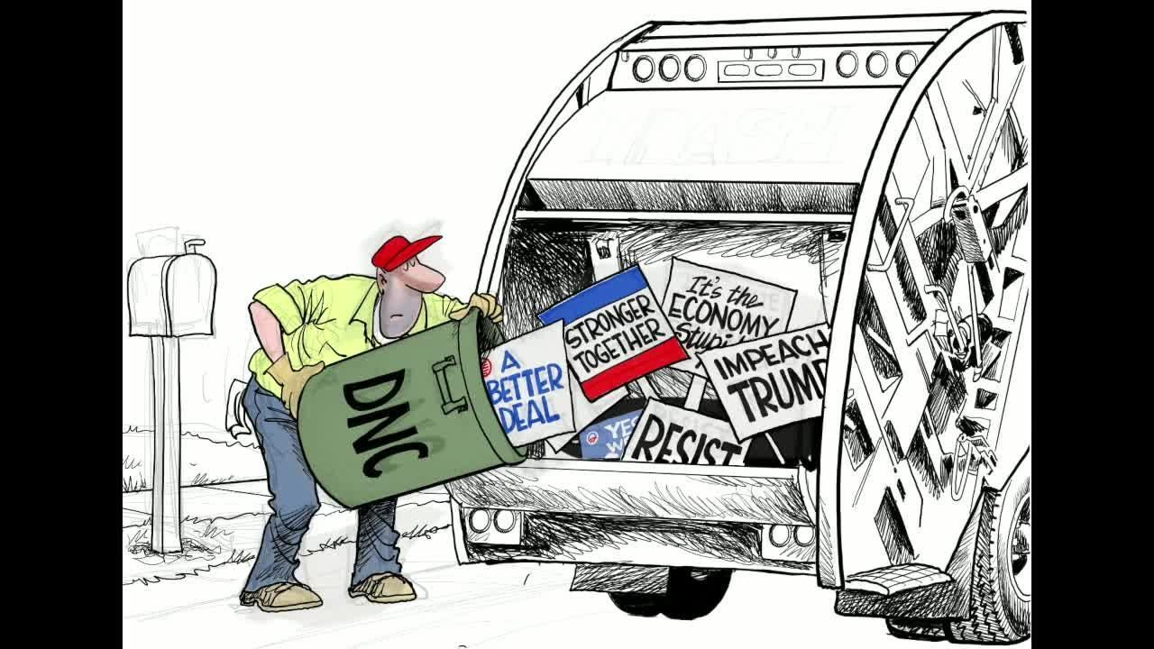 Watch Gary Varvel's time lapse video of the Democratic National Committee's past slogans.