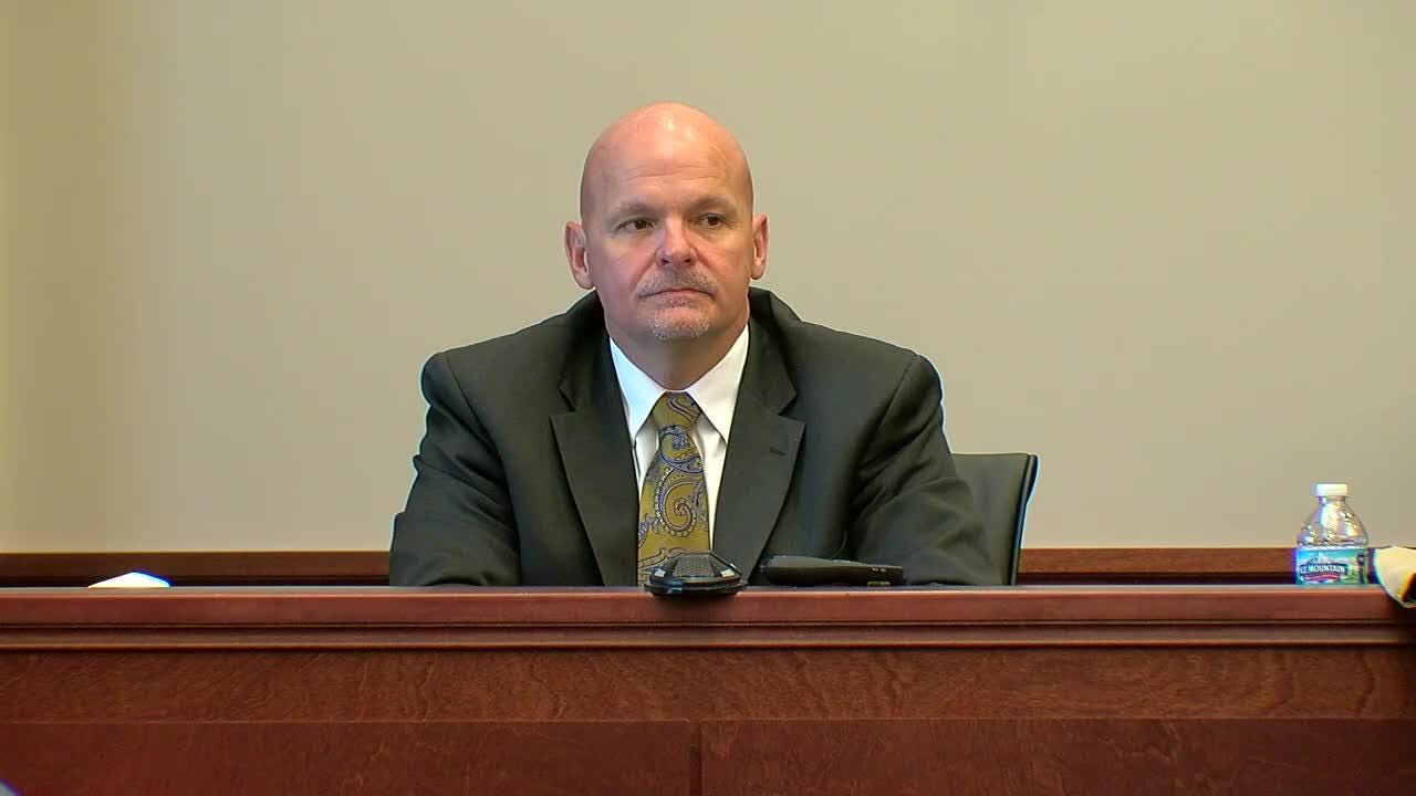 Highland Heights Police Chief Bill Birkenhauer takes the stand Monday in the retrial of Shayna Hubers