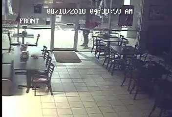 Surveillance footage from break-in at Jax and Gabe's Pizzeria