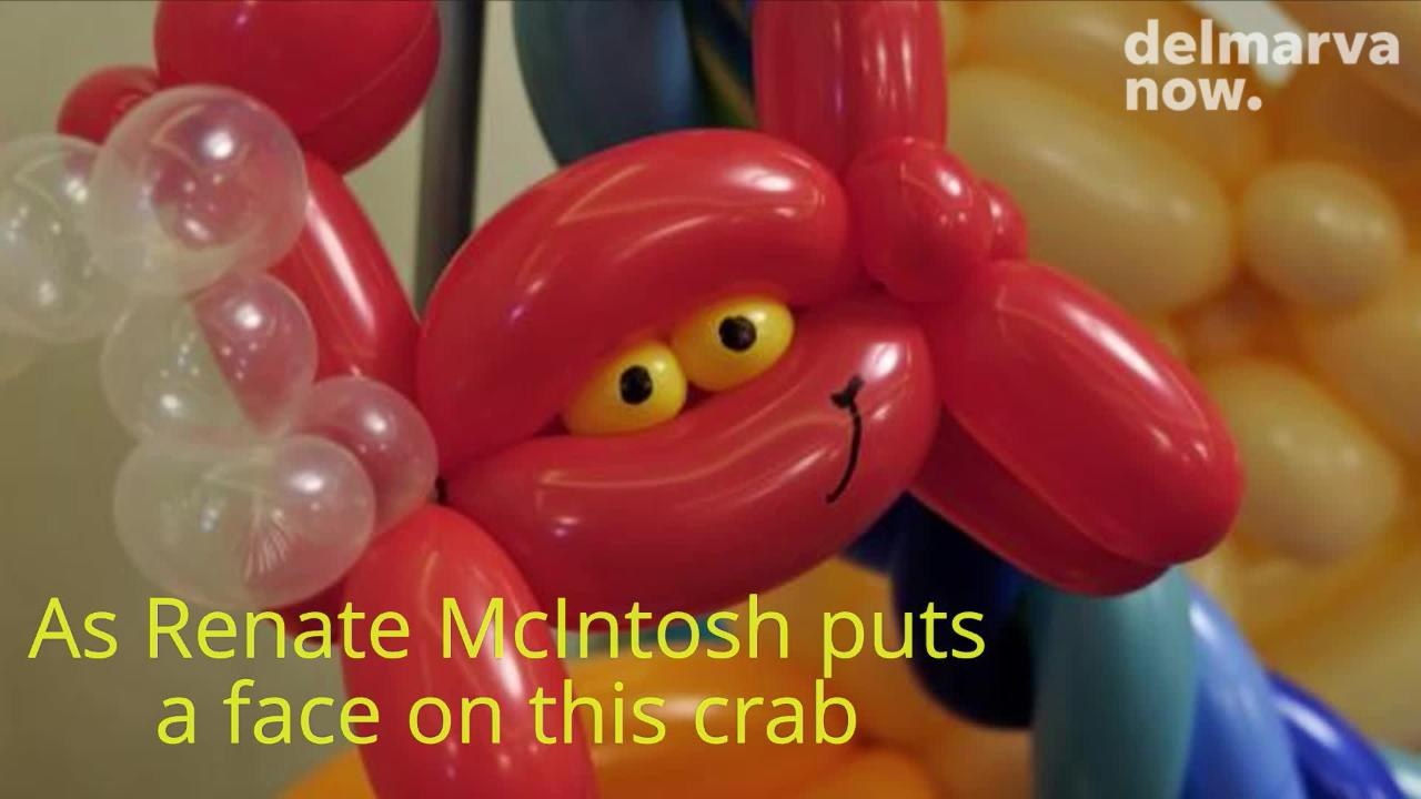 Renate McIntosh has been thrilling kids at the beach with her magic of balloon art.