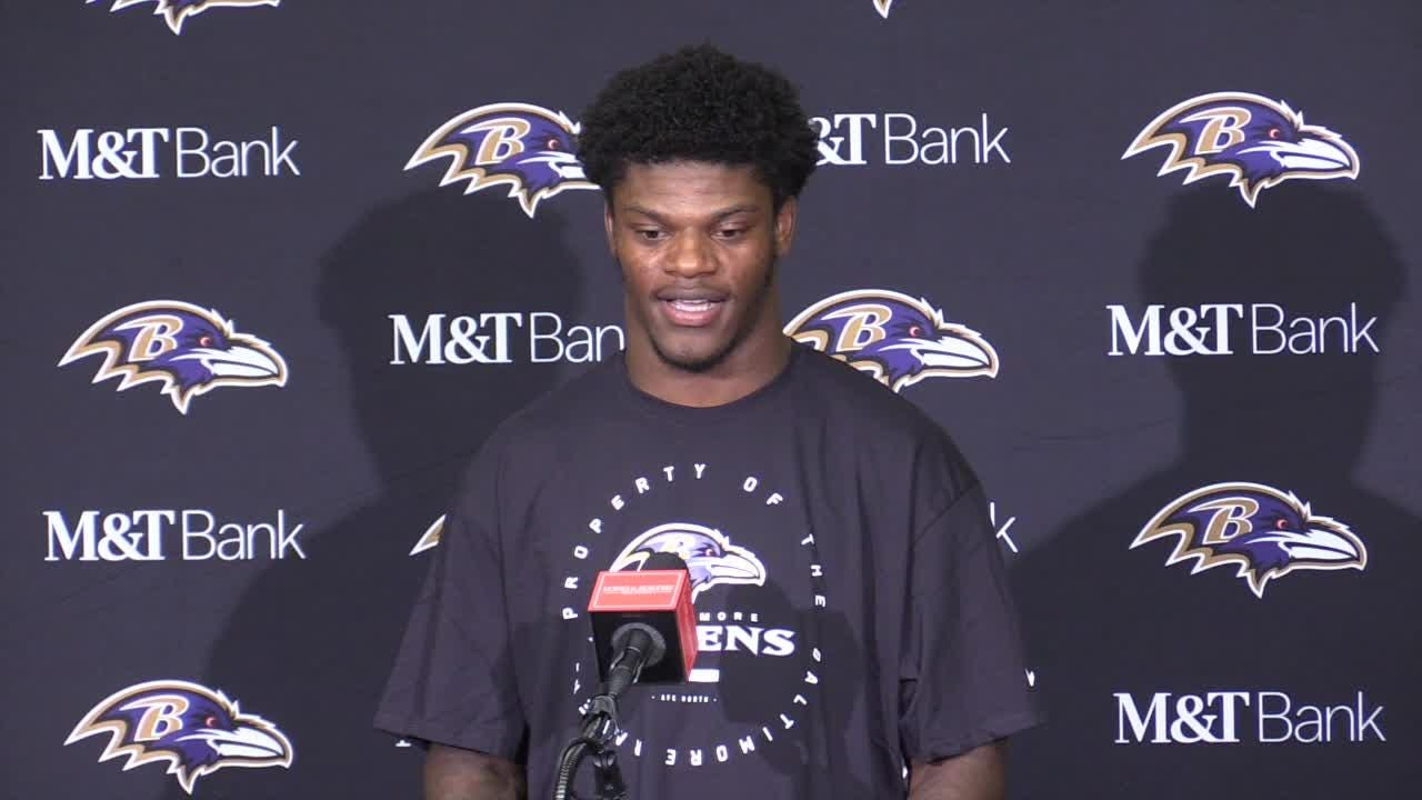 new style 663f0 fe7ac Lamar Jackson talks about his preseason performance against the  Indianapolis Colts