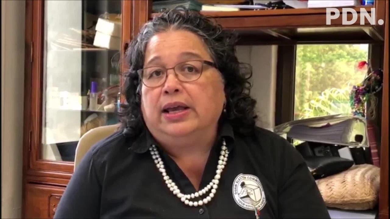 Guam Election Commission Executive Director Maria Pangelinan talks about contingency plans if it rains hard or the power goes out on primary Election Day on Saturday, Aug. 25, 2018.