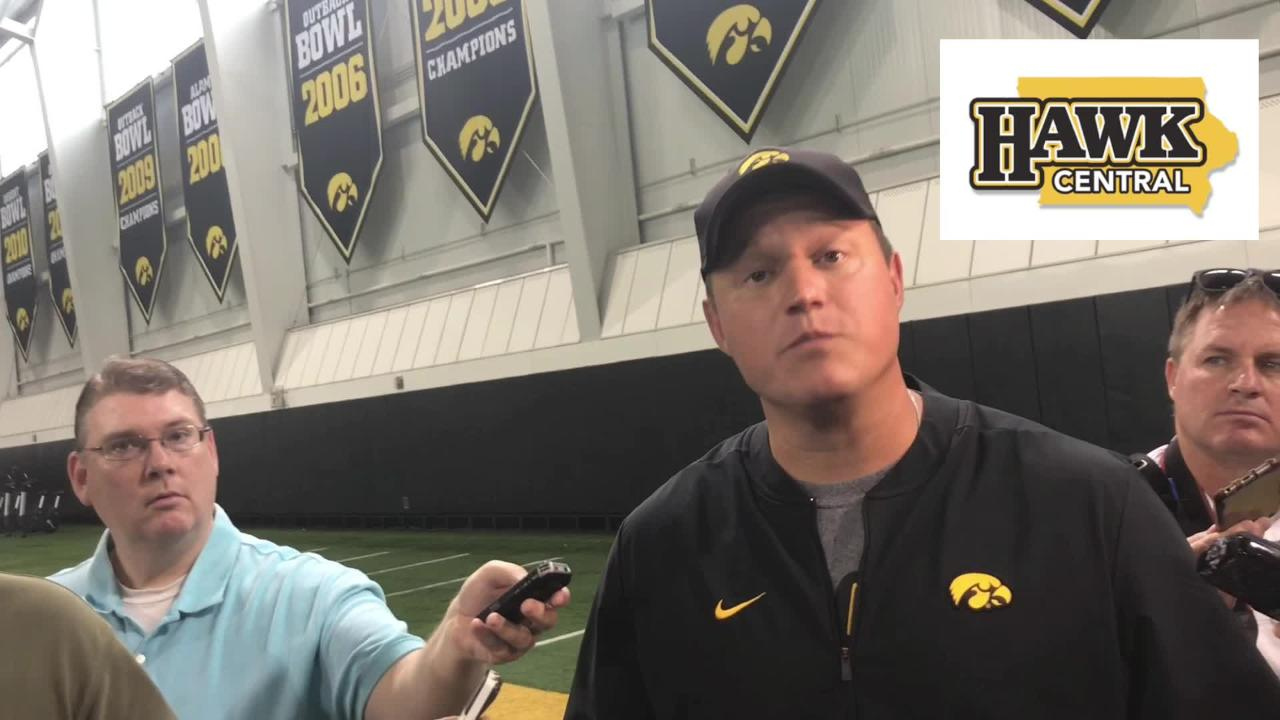 Iowa offensive coordinator Brian Ferentz explains what he likes about wide receiver Max Cooper