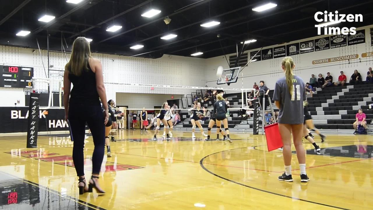 North Buncombe's volleyball match against Roberson
