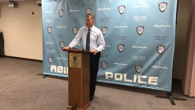 Abilene Police Chief Stan Standridge news conference on Aug. 22, 2018, on the arrest of four people in connection with homicide of Chance Bonni, 23.