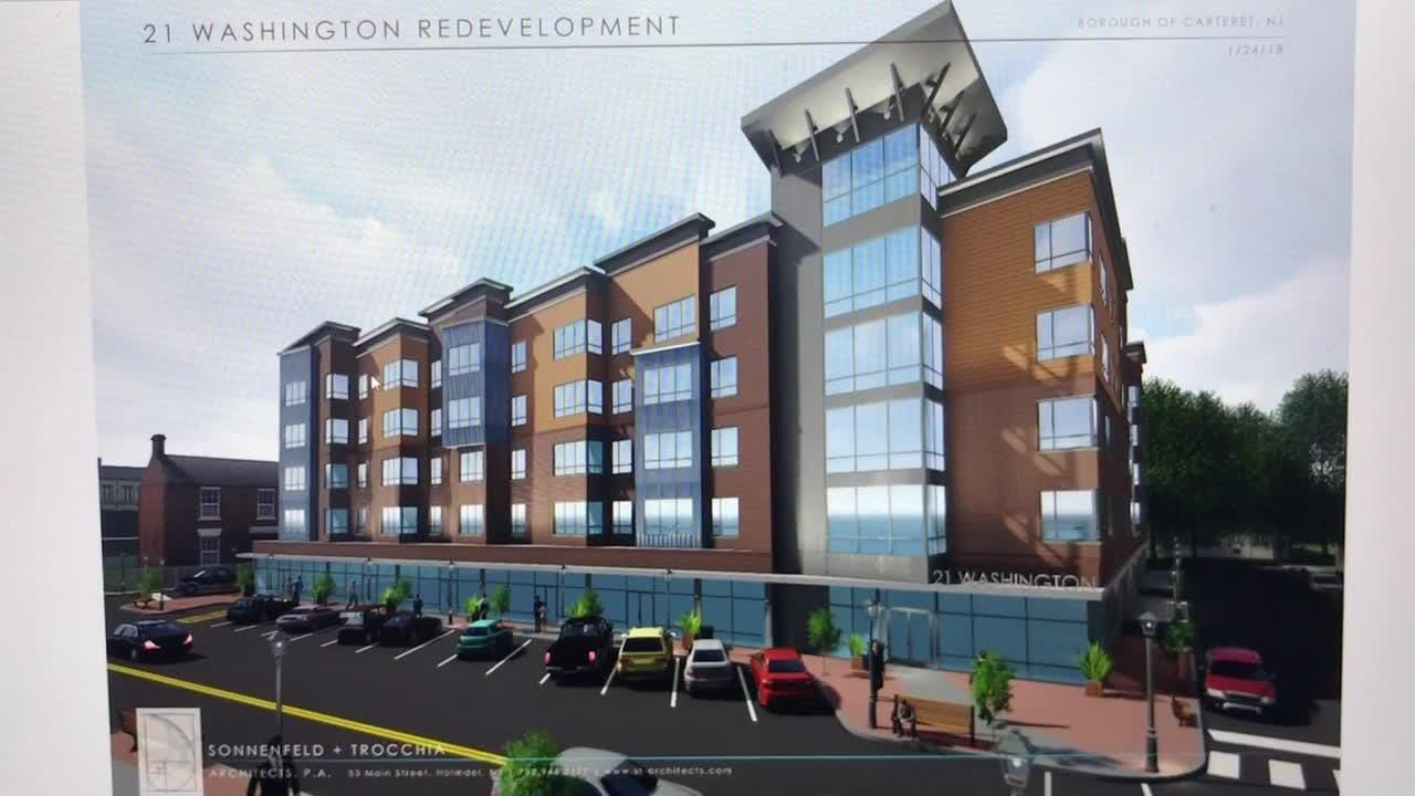 A look at the development of Carteret's artist district with a performance and event center, new condos, retail, restaurants and musical streetscape