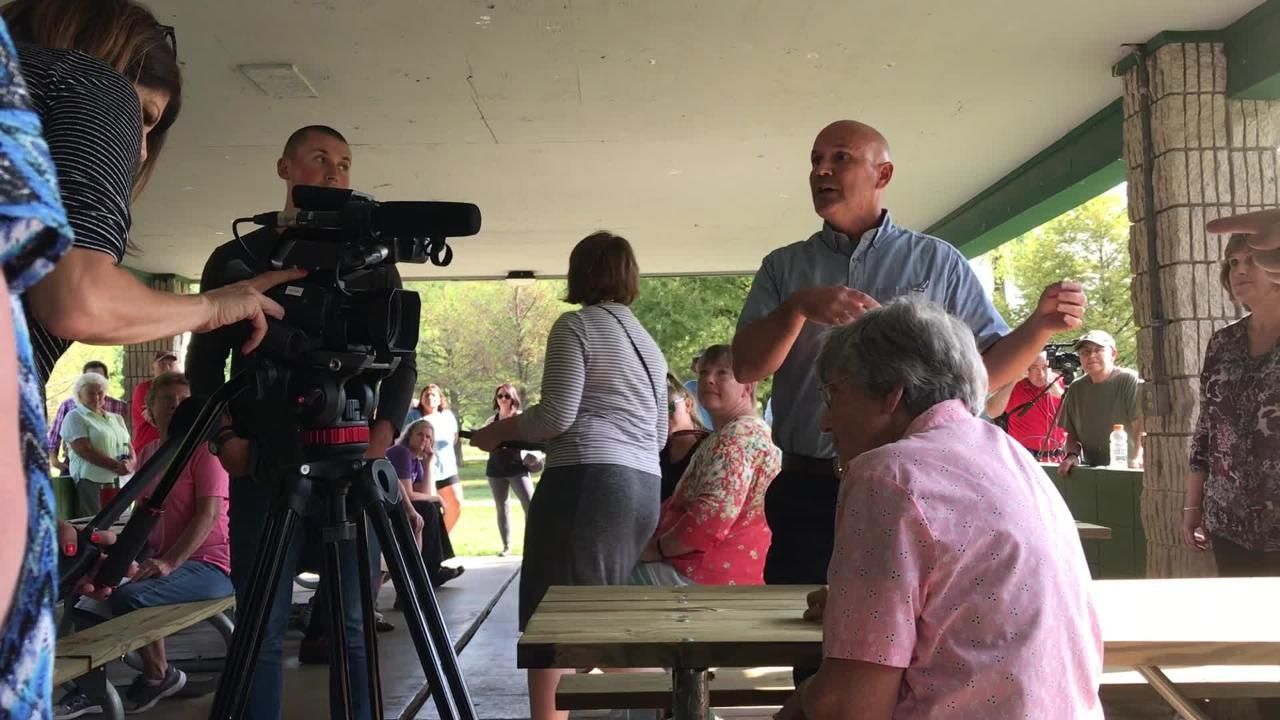 A developer hopes to build an apartment and retail complex across from Sequiota Park. More than 100 people showed up to a meeting on Aug. 21, 2018.