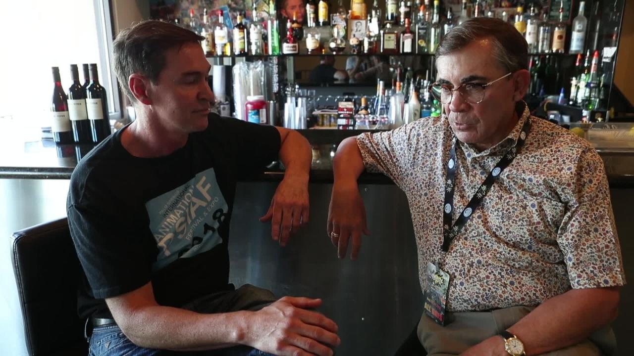 Brian Hoff and mayor Rob Moon talk about the PSIAF