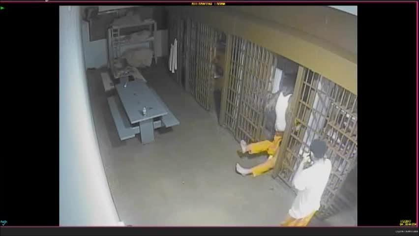 Attack inside Greenville Co  jail caught on surveillance video