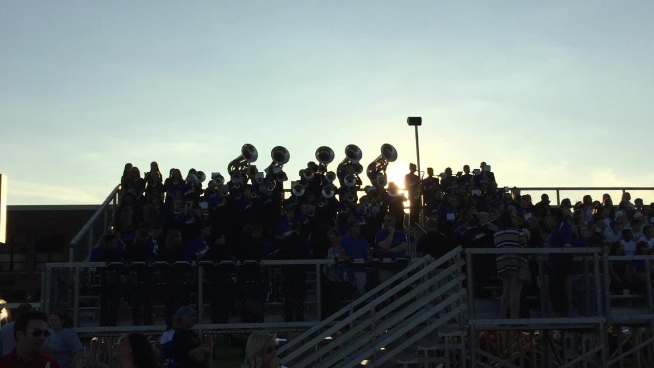 Cedar Crest band at the Cedar Bowl