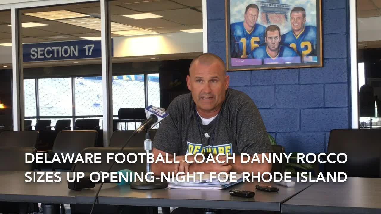 Delaware football coach Danny Rocco sizes up opening-night foe Rhode Island