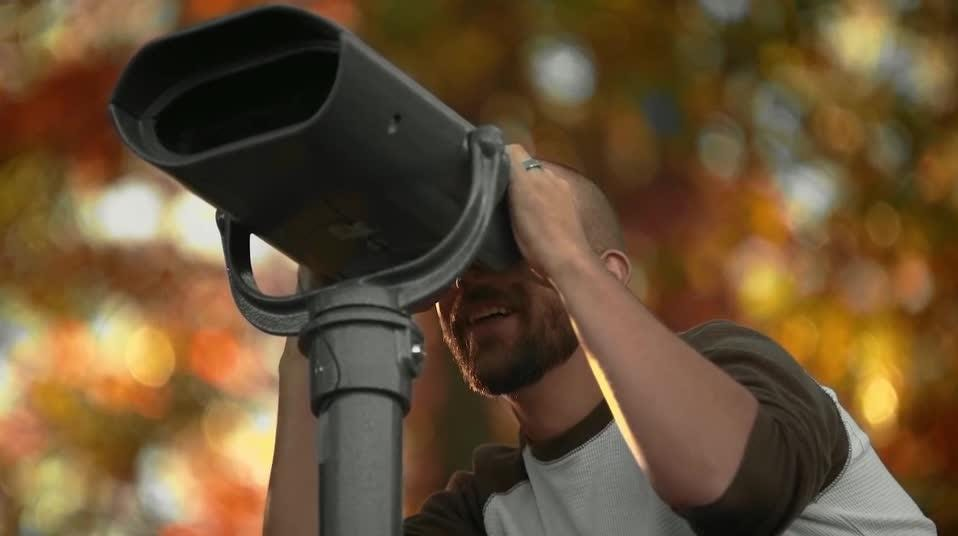 Special lenses have been installed in scenic viewers so people with color blindness could experience the true colors of fall for the first time.