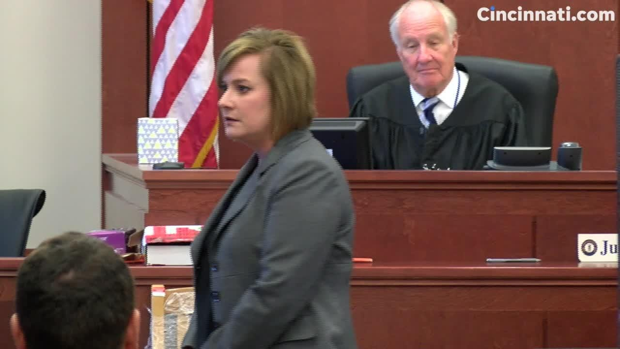 Commonwealth's Attorney Michelle Snodgrass and defense attorney David Eldridge deliver closing arguments in the retrial of Shayna Hubers.