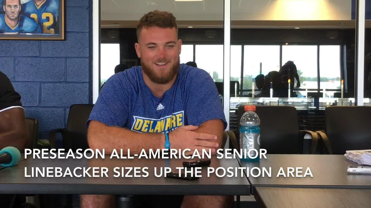 Senior linebacker Troy Reeder, the Blue Hens' preseason All-American, aims to finish his career in memorable fashion.