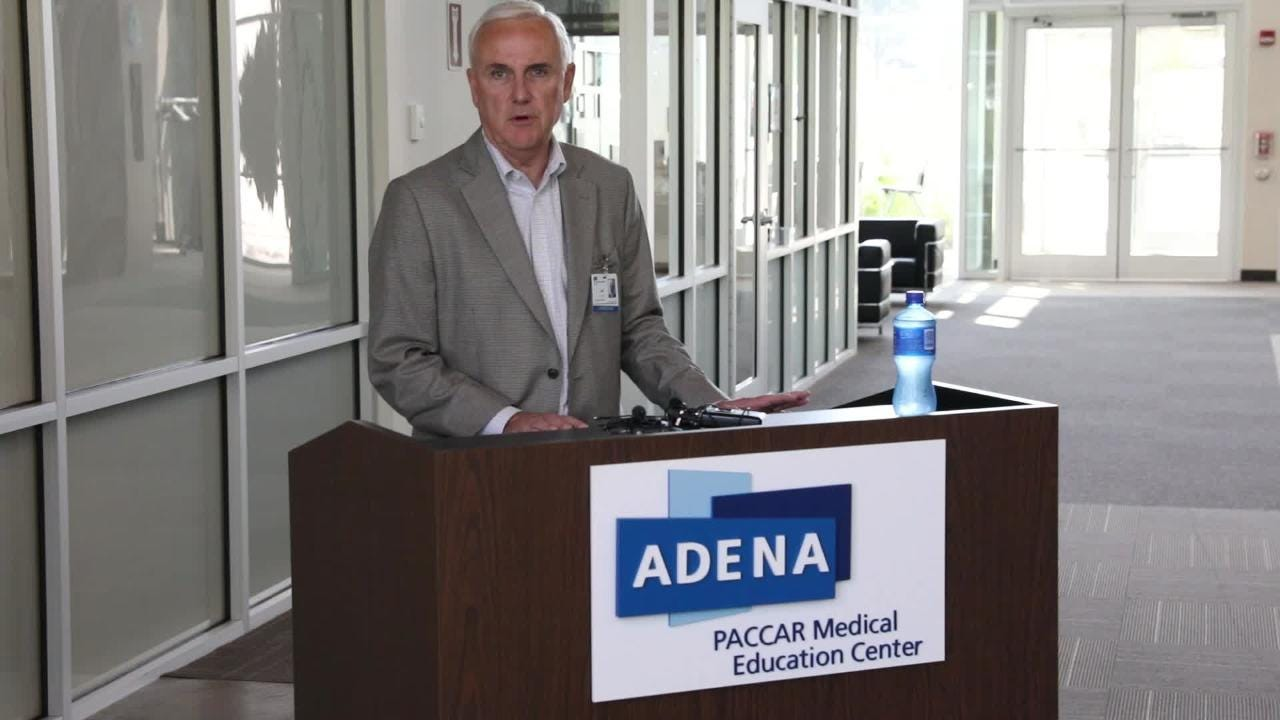 Jeff Graham, CEO of Adena Regional Medical Center, held a press conference late Wednesday morning, about the hospitals response to the RCI overdoses.
