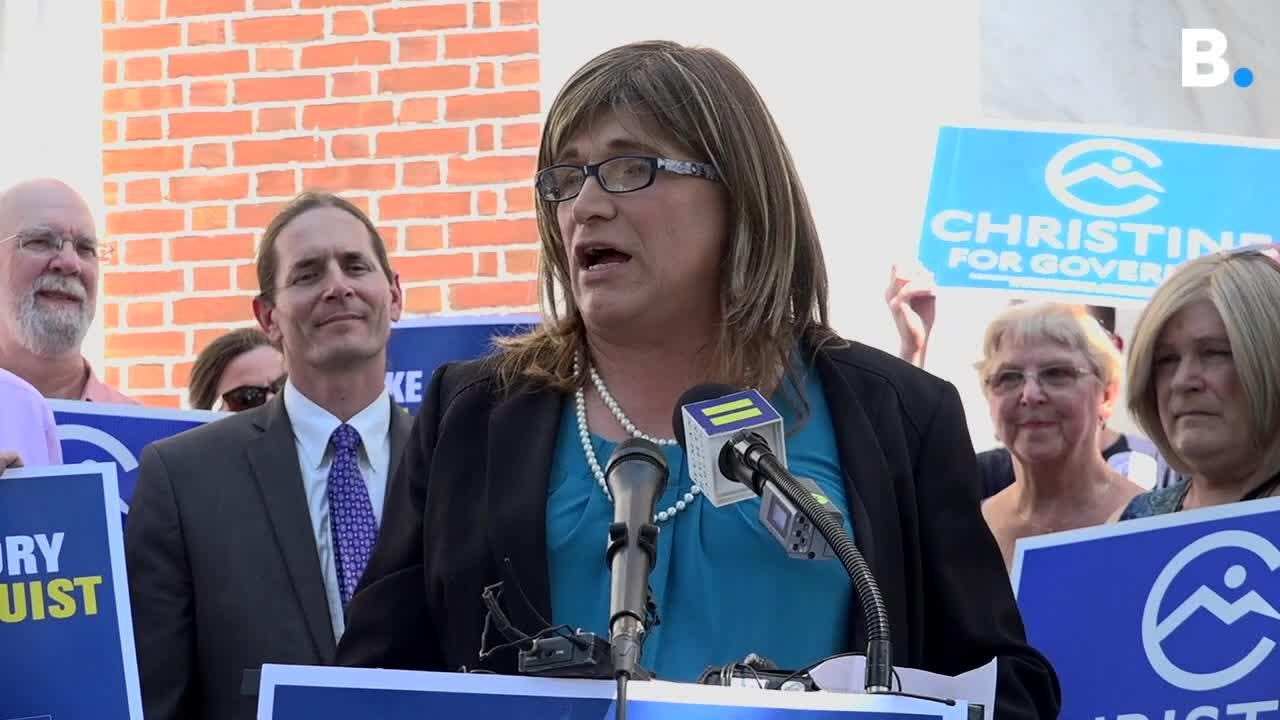 Endorsed on Wed., Aug. 29, 2018, by the Human Rights Campaign, first out trans candidate for gov Christine Hallquist touts VT's history of inclusion.
