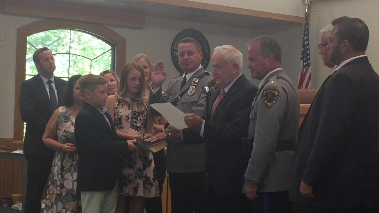 Michael Brosnan was sworn in Aug. 28 as Toms River's first deputy chief in several years.
