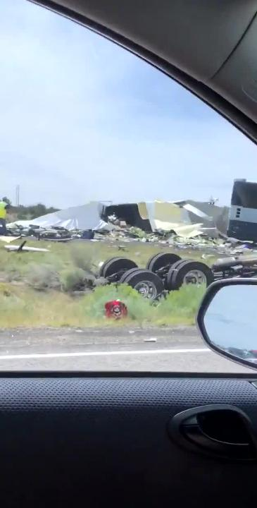 Bus bound for Phoenix crashes in Thoreau, N M  along I-40 on August 30, 2018