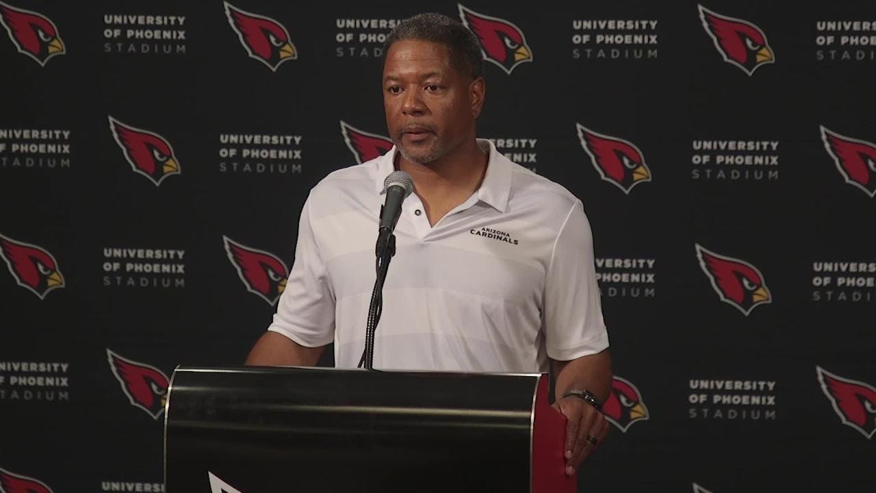 Cardinals coach Steve Wilks talks team's preseason loss to Denver Broncos on Thu. Aug. 30, 2018.