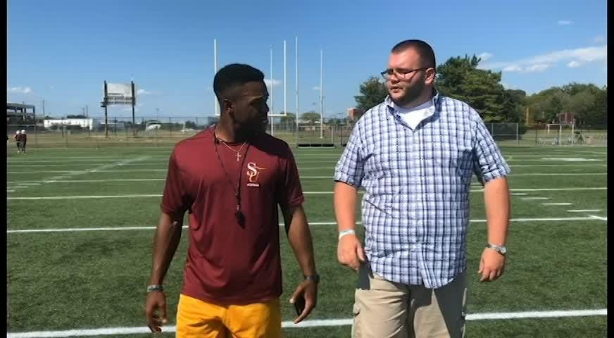 "Delmarva Now sports reporter Ricky Pollitt kicks off a new season of ""100 Yards"" with Salisbury University wide receiver coach, Isaiah Taylor."