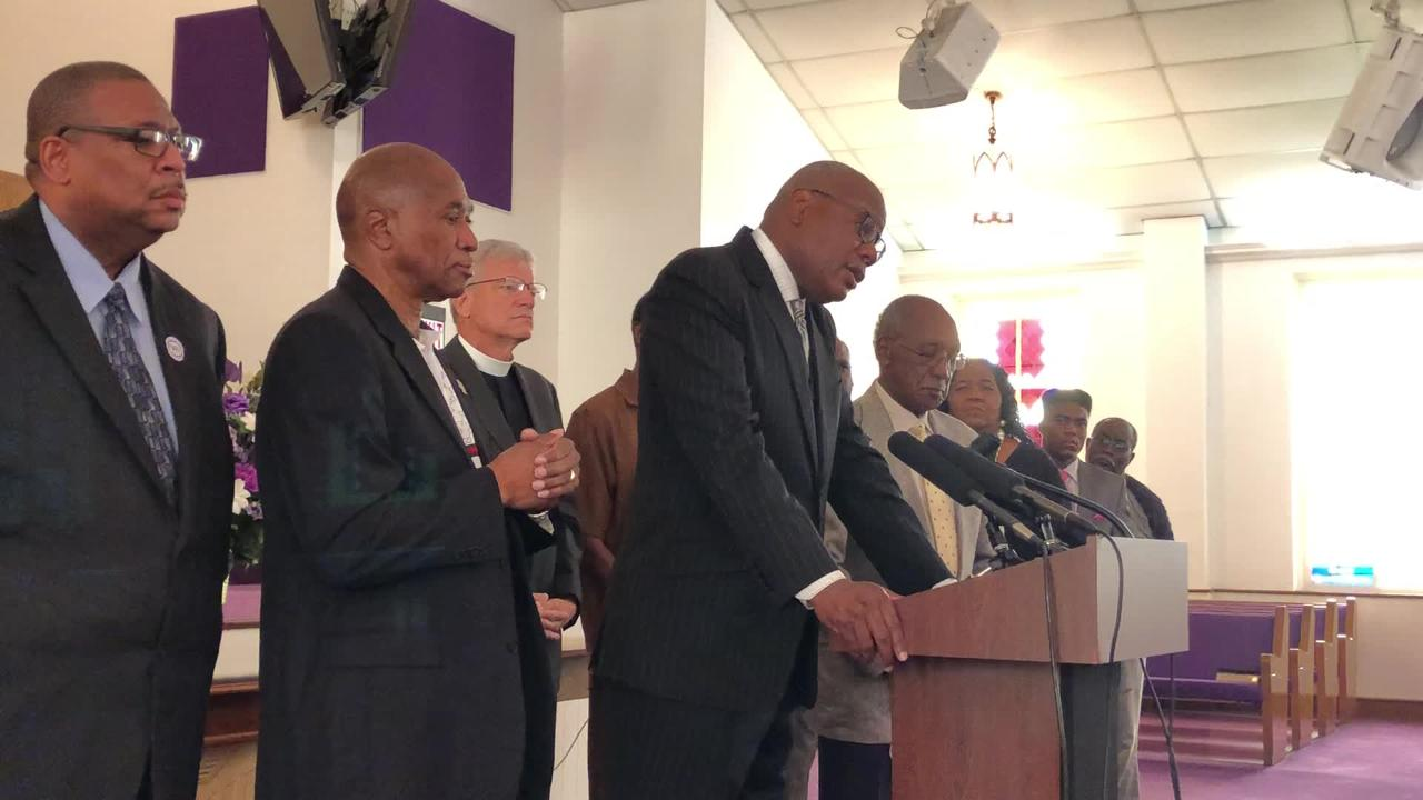 """""""Mayor Gillum's policies did not originate from the animal kingdom,"""" the Rev. R.B. Holmes said, calling for an apology from DeSantis."""