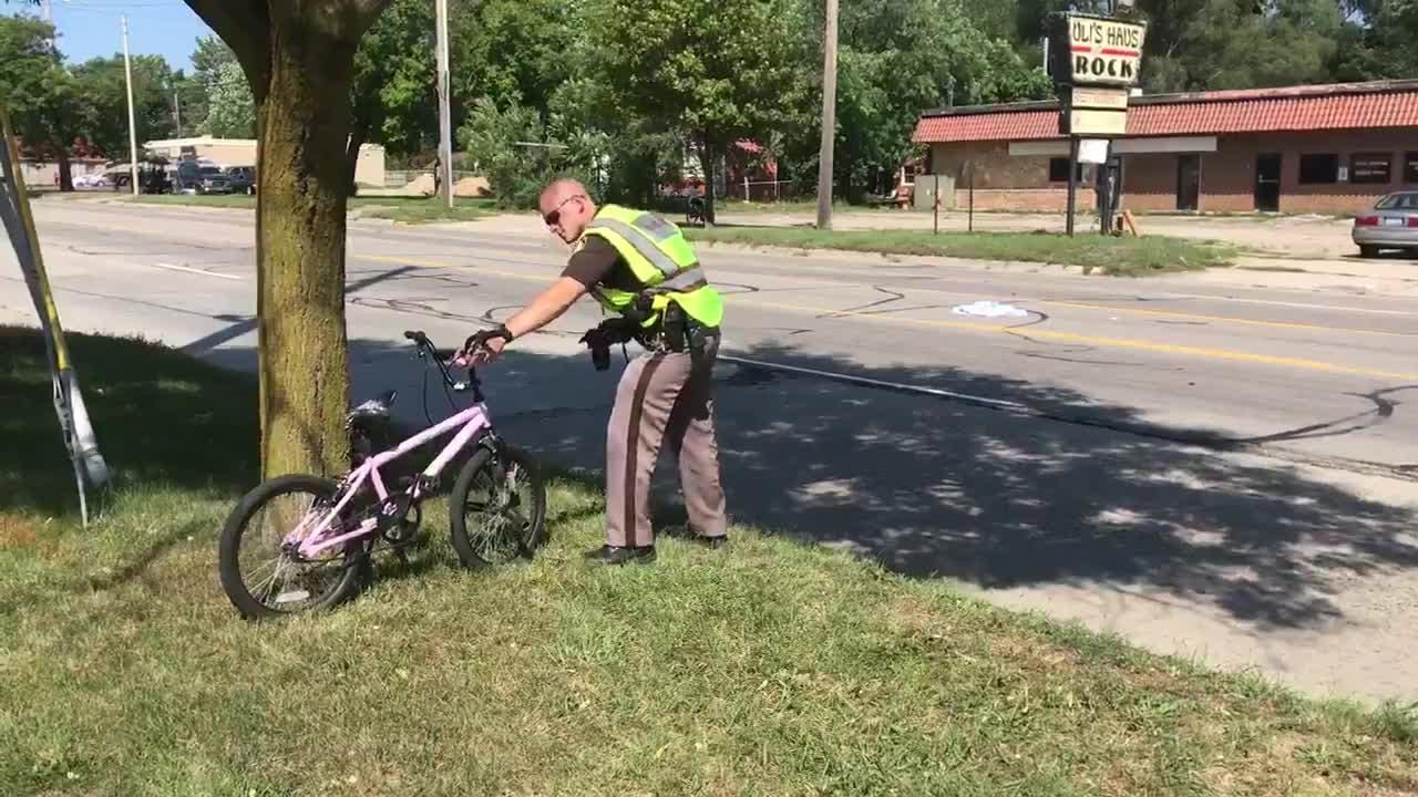 Police say a juvenile was struck and taken to the hospital Friday in south Lansing. The accident reconstruction team is on scene to investigate the crash