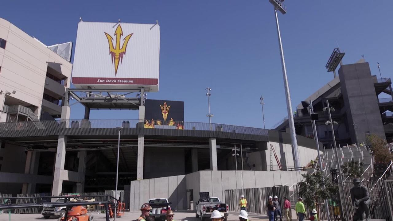 Asus Sun Devil Stadium Renovation Whats New In 2018 Video This Walks You Through Building Circuit Using Heres What Need To Know About Stadiums 307m Before Game Day