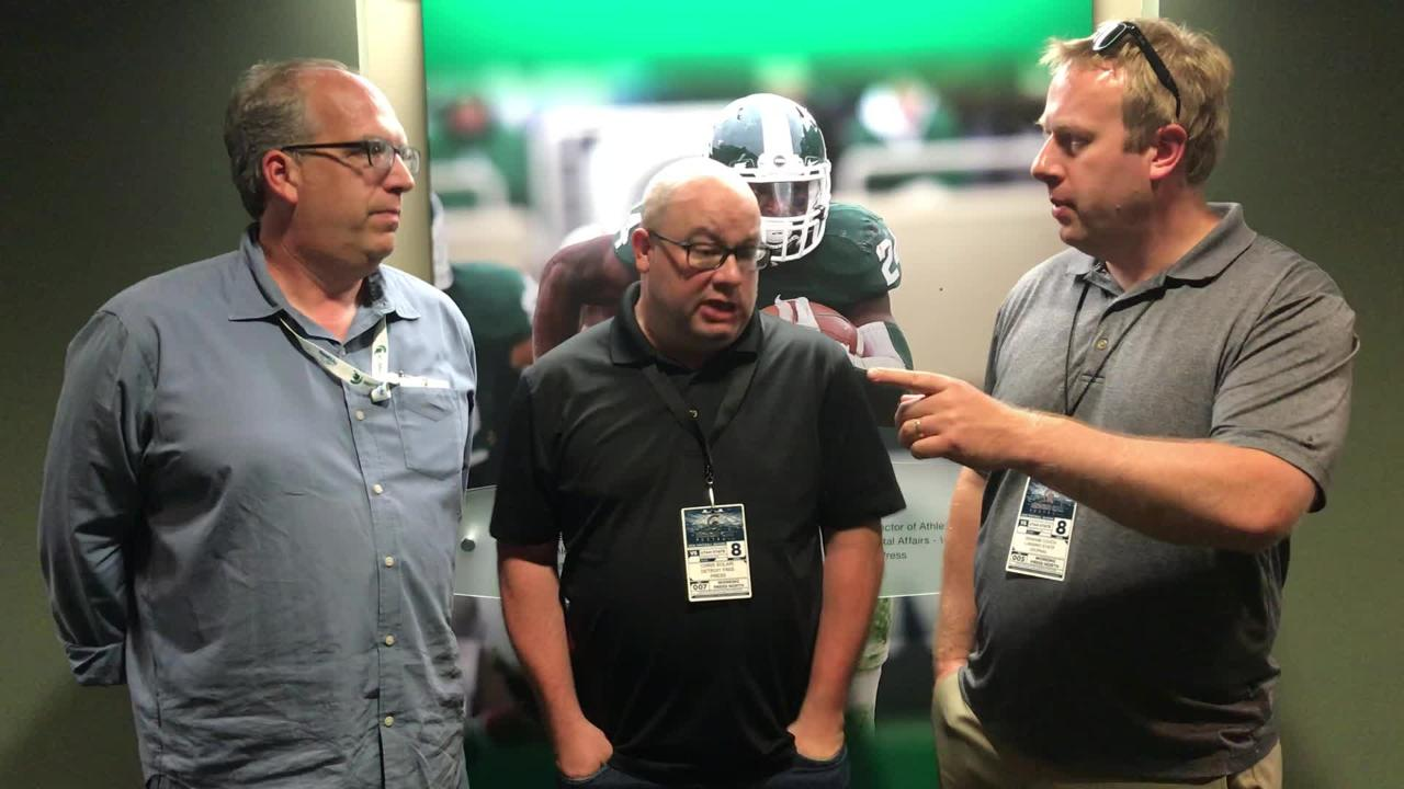 Shawn Windsor, Chris Solari and Graham Couch dissect Michigan State's 38-31 win over Utah State in the 2018 season opener.