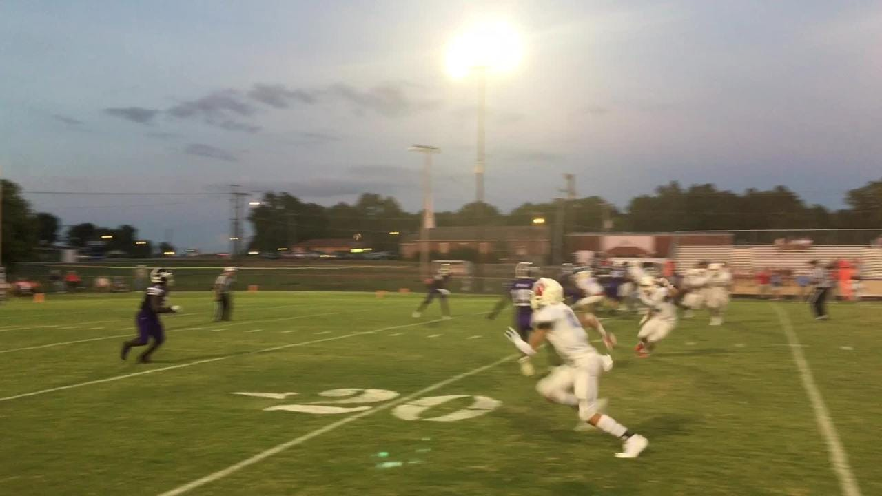 Action from Haywood's 40-0 win over USJ in Week 3.