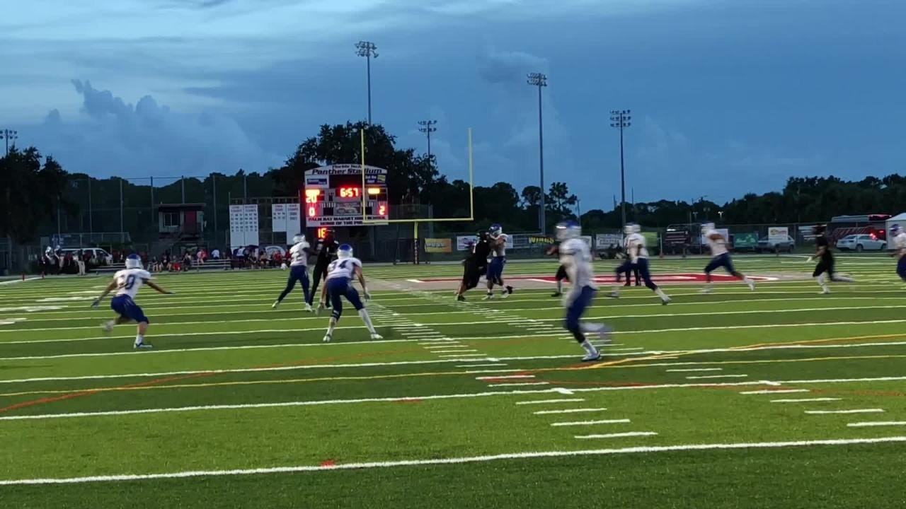 The Palm Bay Pirates defeated Martin County 46-7 Friday evening at Pirate Stadium.