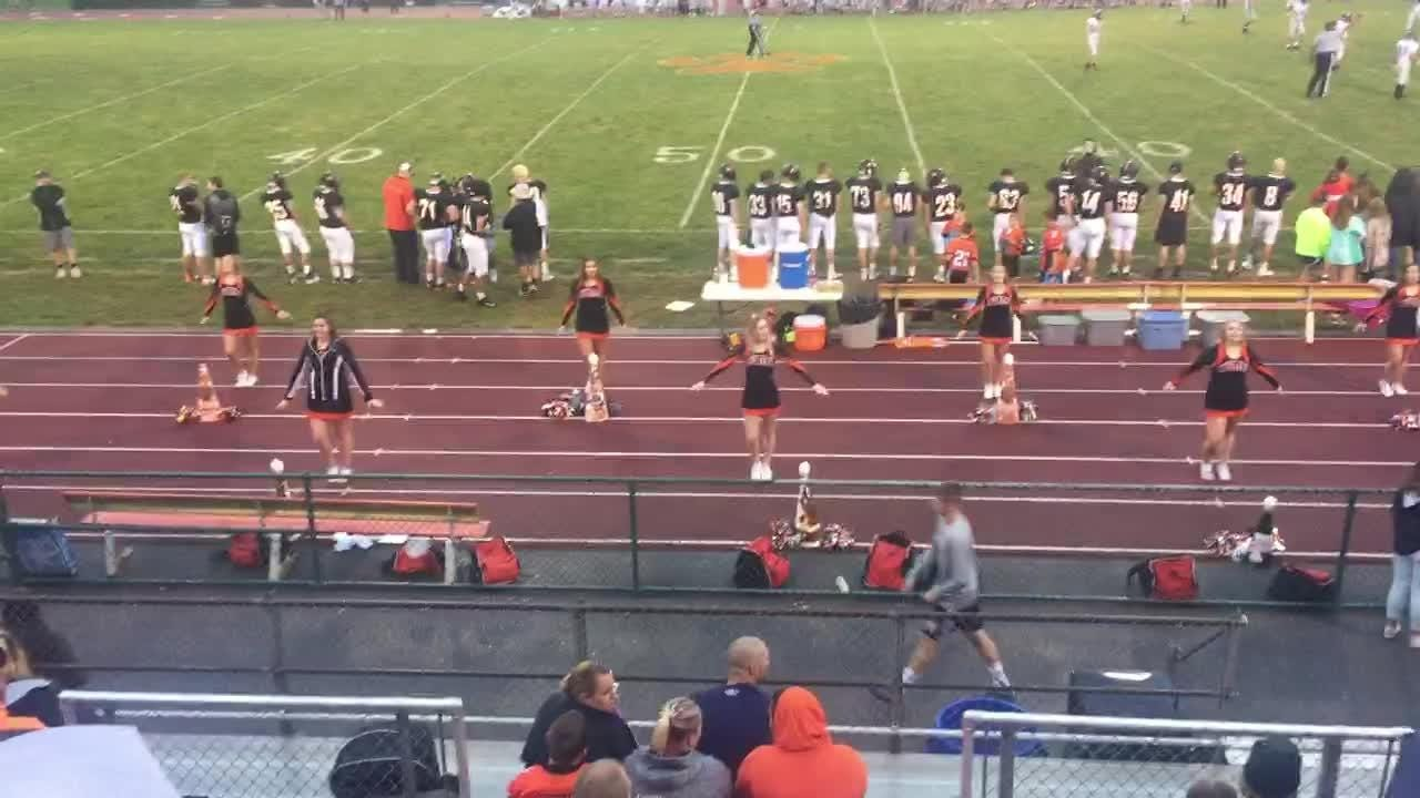 Palmyra cheerleaders perform